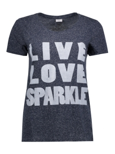 Jacqueline de Yong T-shirt JDYBOLETTE S/S PRINT TOP JRS 15133655 Mood Indigo/ Sparkle