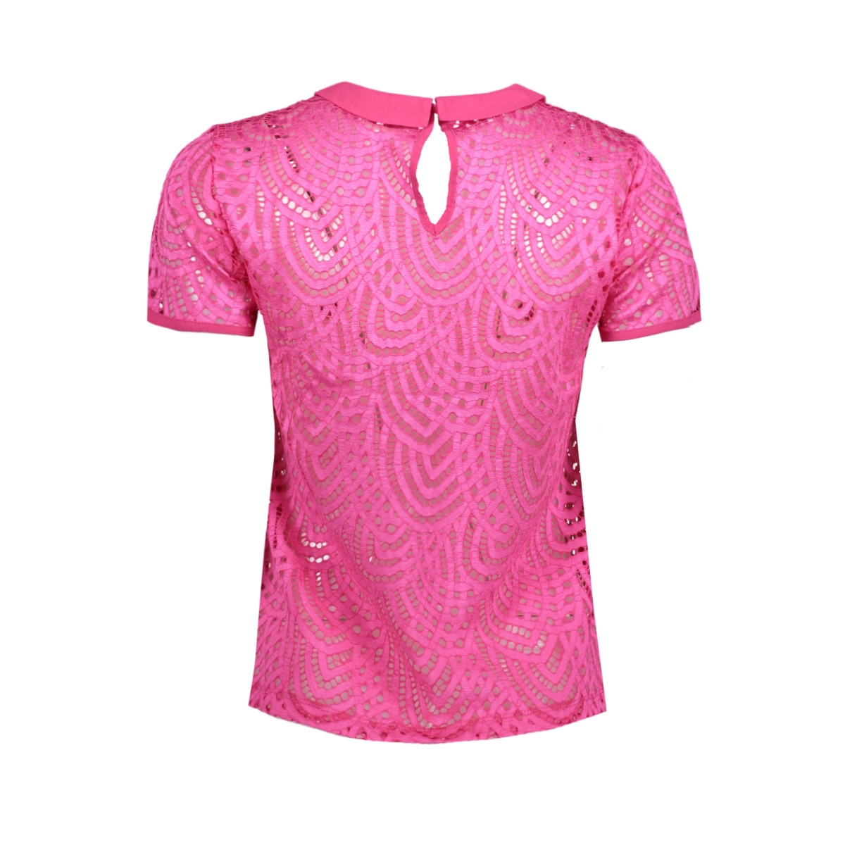 onldutch s/s lace top jrs 15150480 only t-shirt fuchsia purple