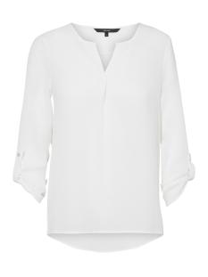 vmsasha 3/4 top a noos 10182497 vero moda blouse snow white