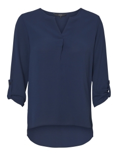 vmsasha 3/4 top a noos 10182497 vero moda blouse navy blazer