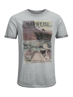 Jack & Jones T-shirt JJVFU HAMMOND SS TEE 12129204 Grffin/ Slim Fit