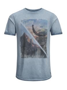 Jack & Jones T-shirt JJVFU HAMMOND SS TEE 12129204 Aegean Blue/ Slim Fit