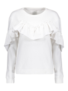 Only Sweater onlDREAM FRILL L/S SWEAT SWT 15138949 White