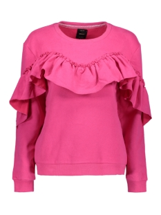 Only Sweater onlDREAM FRILL L/S SWEAT SWT 15138949 Fuchsia Purple