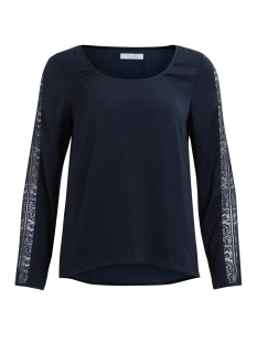 Vila T-shirt VILACELINE L/S LACE TOP /DU 14042574 Total Eclipse