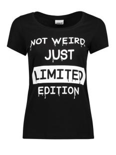 Noisy may T-shirt NMAXEL PRINTED T-SHIRT BOX 7X 27000305 Black/ Not Weird