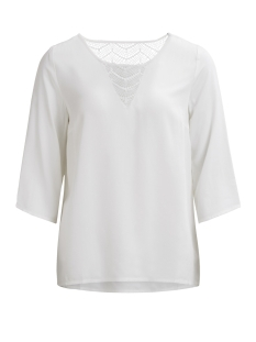 Vila T-shirt VISOMMI 3/4 SLEEVE LACE TOP-NOOS 14042587 Snow White