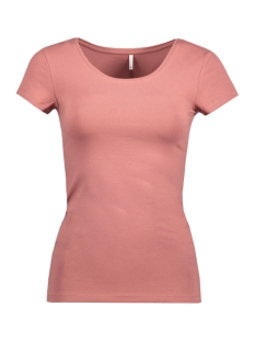 Only T-shirt onlLIVE LOVE NEW SS O-NECK TOP NOOS 15132306 Withered Rose