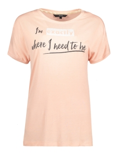 Vero Moda T-shirt VMRANDI S/S TOP BOX JRS 10185986 Rose Cloud/ Black Front