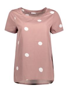 Jacqueline de Yong T-shirt JDYBLAZE S/S TOP WVN RPT1 15149486 Twilight Mauve/ Dot