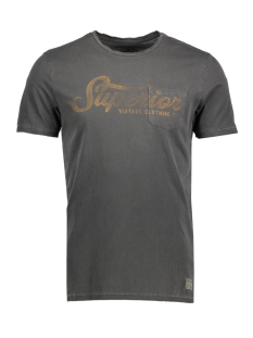 Jack & Jones T-shirt JJVFU LOUIS SS TEE 12129666 Caviar