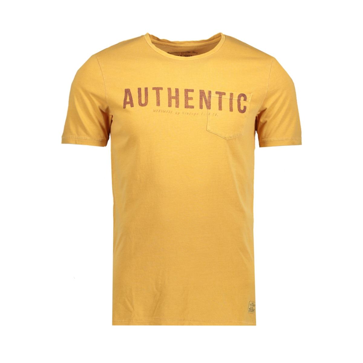 jjvfu louis ss tee 12129666 jack & jones t-shirt sunflower