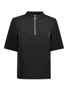 Jacqueline de Yong T-shirt JDYKIRA 2/4 ZIP TOP WVN 15140312 Black