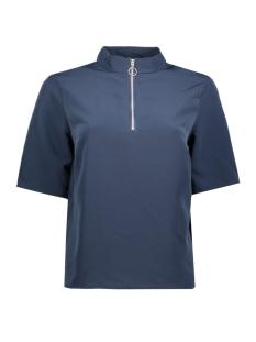 jdykira 2/4 zip top wvn 15140312 jacqueline de yong t-shirt black iris