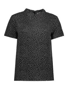 Jacqueline de Yong T-shirt JDYPICA S/S COLLAR TOP WVN 15137204 Black/ Pica Dots