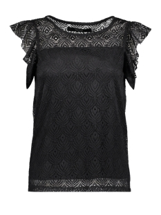 Vero Moda T-shirt VMMAJSE S/L LACE TOP JRS A 10182881 Black