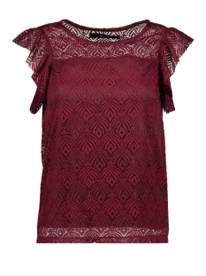 Vero Moda T-shirt VMMAJSE S/L LACE TOP JRS A 10182881 Zinfandel
