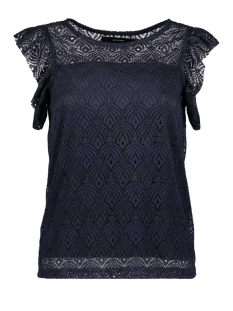 Vero Moda T-shirt VMMAJSE S/L LACE TOP JRS A 10182881 Navy Blazer