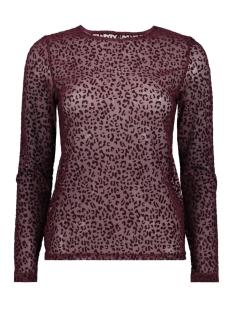 onlleo flock l/s top ess 15143380 only t-shirt port royale