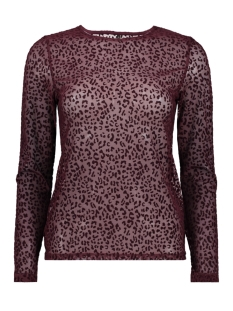 Only T-shirt onlLEO FLOCK L/S TOP ESS 15143380 Port Royale