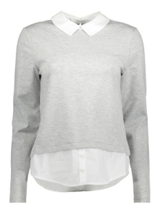 Only Trui onlCALLY L/S COLLAR TOP JRS 15141094 Light Grey Melange