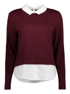 Only Trui onlCALLY L/S COLLAR TOP JRS 15141094 Port Royale