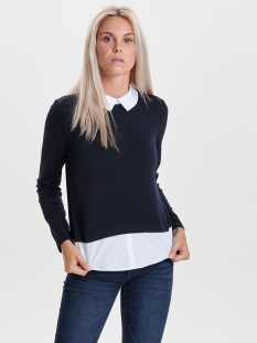 onlcally l/s collar top jrs 15141094 only trui sky captain
