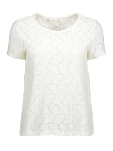 Jacqueline de Yong T-shirt JDYTAG S/S LACE TOP JRS RPT1 15151092 Cloud Dancer