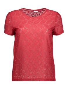 Jacqueline de Yong T-shirt JDYTAG S/S LACE TOP JRS RPT1 15151092 Scarlet Sage