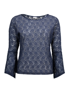 Jacqueline de Yong T-shirt JDYEVERLY L/S TOP JRS 15138529 Black Iris