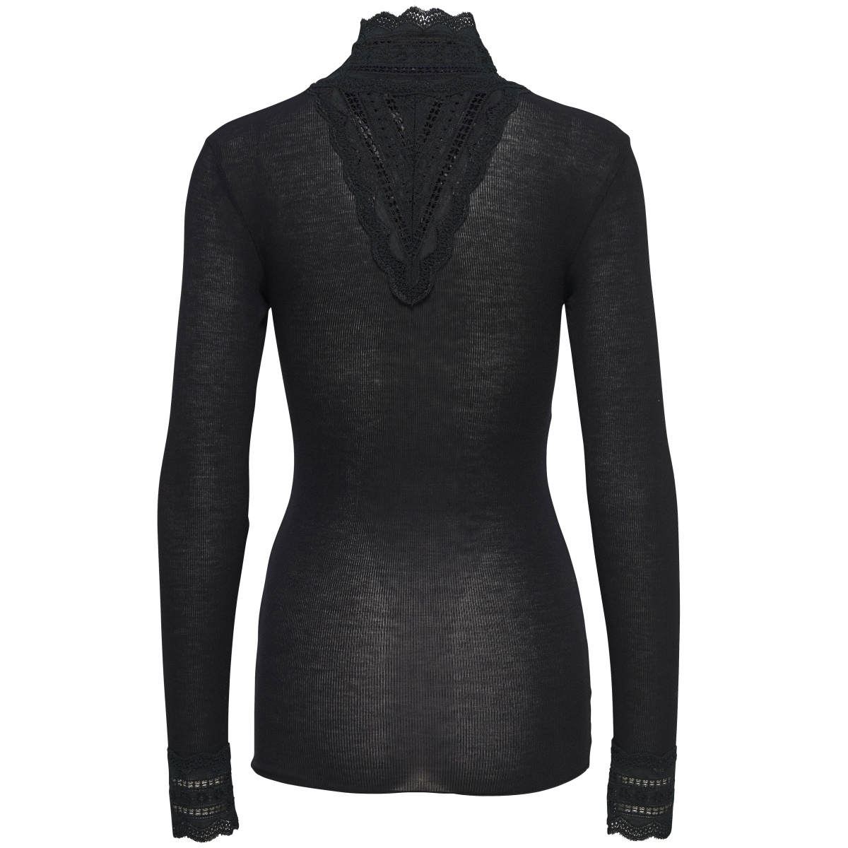 onlsky l/s lace high-neck blouse noos 15146187 only t-shirt black