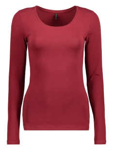 Only T-shirt onlLIVE LOVE NEW LS O-NECK TOP NOOS 15140196 Sun-Dried Tomato