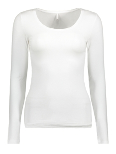 Only T-shirt onlLIVE LOVE NEW LS O-NECK TOP NOOS 15140196 White
