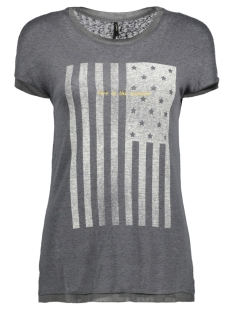 Only T-shirt onlRILEY S/S STARS/FLAG TOP BOX ESS 15142759 Iron Gate/FLAG
