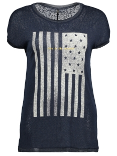 Only T-shirt onlRILEY S/S STARS/FLAG TOP BOX ESS 15142759 Sky Captain/FLAG