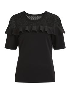 Vila T-shirt VIMIRACLES 1/2 SLEEVE TOP/P 14043180 Black