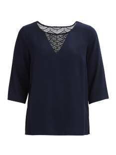 Vila T-shirt VISOMMI 3/4 SLEEVE LACE TOP-FAV 14043511 Total Eclips
