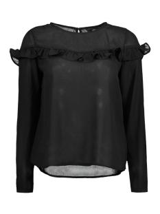 onlelena l/s ruffle top noos wvn 15145426 only blouse black