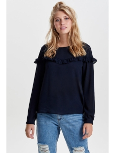 onlelena l/s ruffle top noos wvn 15145426 only blouse night sky