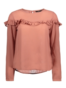Only Blouse onlELENA L/S RUFFLE TOP NOOS WVN 15145426 Withered Rose