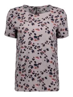 Vero Moda T-shirt VMBALI SLIT S/S TOP SB8 10193524 Frost Grey/STASIA