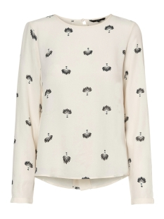 Vero Moda Blouse VMVIGGA L/S TOP 10186390 Snow White