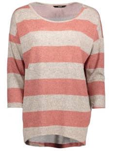 Only Trui onlELCOS STRIPE 4/5 TOP JRS 15148811 Rose Dawn