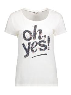 Only T-shirt onlMILA S/S PRINT TOP BOX ESS 15142848 Cloud Dancer