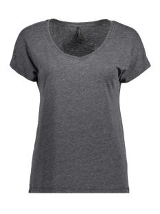 Only T-shirt onlTRULY S/S V-NECK TOP ESS 15150979 Black