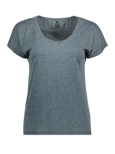 Only T-shirt onlTRULY S/S V-NECK TOP ESS 15150979 Ponderosa Pine