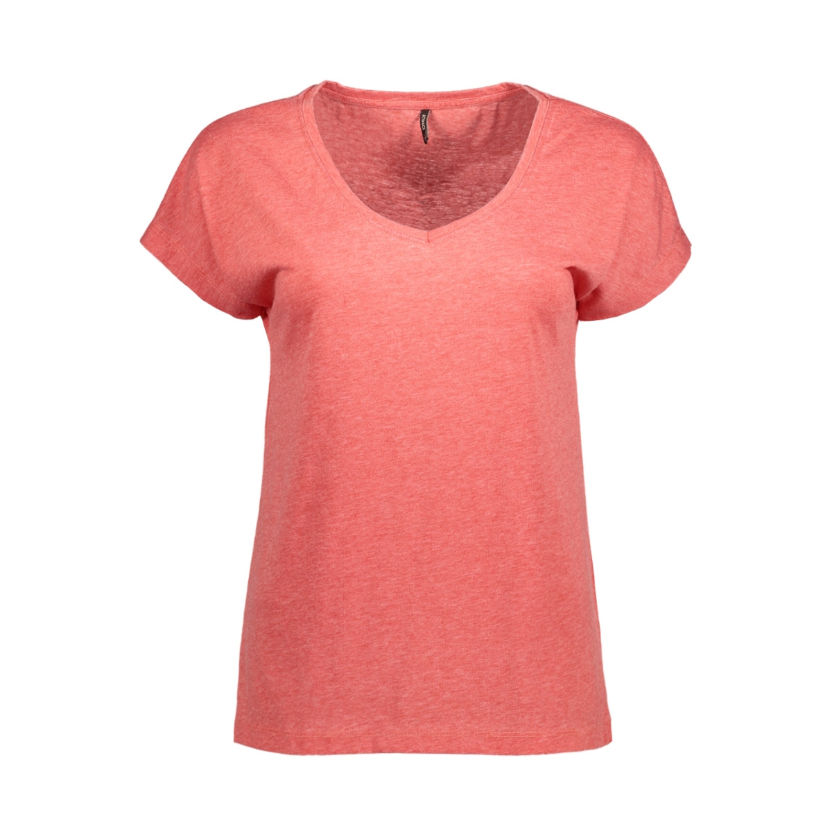 onltruly s/s v-neck top ess 15150979 only t-shirt high risk red
