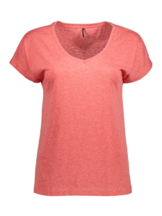 Only T-shirt onlTRULY S/S V-NECK TOP ESS 15150979 High Risk Red