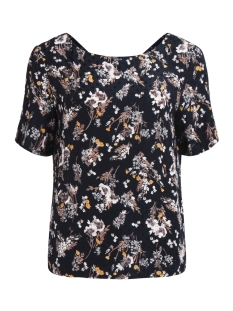 Vila Blouse VIBETH S/S TOP 14044685 Eclipse/Flowerprint