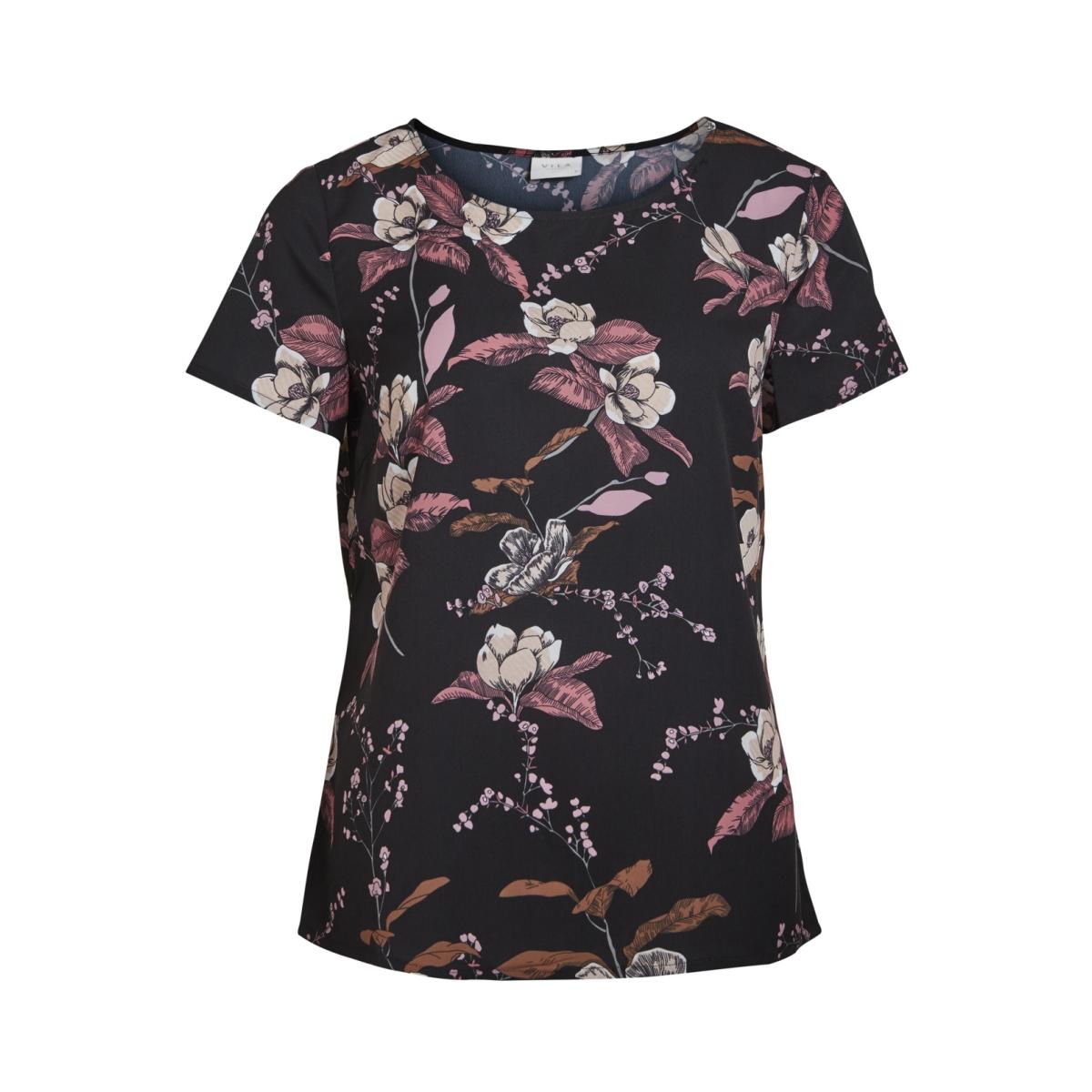 vipausina new s/s top /rx 14046862 vila t-shirt black/with print